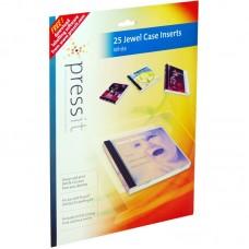 A4 Pressit Compatible White Jewel Case Inserts