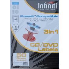 A4 Infiniti Pressit Compatible Glossy Labels
