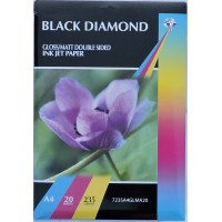 A4 235gsm Black Diamond Double Sided Gloss / Matte Photo Paper