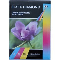 A4 235gsm Black Diamond Double Sided Gloss / Matte Photo Paper