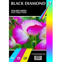 Black Diamond A4 220gsm Double Sided Matt / Matte Photo Paper
