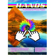 Hands Professional A4 190gsm Resin Coated Satin Photo Paper
