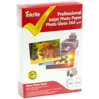 Inkrite 6x4 260gsm Single Sided Gloss Photo Paper