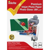 Inkrite A4 180gsm Single Sided Gloss Photo Paper