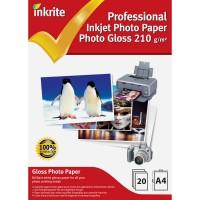 Inkrite A4 210gsm Single Sided Gloss Photo Paper - 20 Sheet Packs