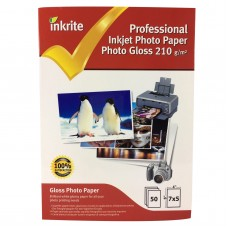 Inkrite 7x5 210gsm Single Sided Gloss Photo Paper