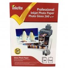 Inkrite 7x5 260gsm Single Sided Gloss Photo Paper