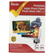 Inkrite A4 260gsm Single Sided Gloss Photo Paper