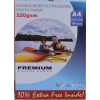 A4 220gsm Double Sided Ultra Gloss Photo Paper