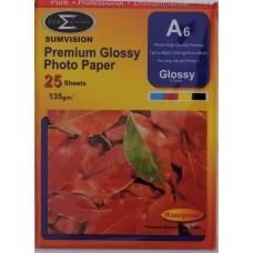 Sumvision A6 135gsm Premium Gloss Photo Paper