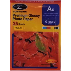 Sumvision A6 180gsm Premium Gloss Photo Paper