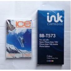 Non OEM Compatible Blue Box Cartridge T573 + 100 Sheets Photo Paper