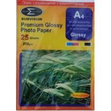 Sumvision A4 200gsm Premium Gloss Photo Paper