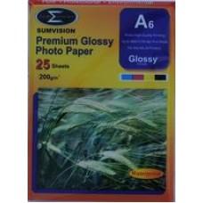 Sumvision A6 200gsm Premium Gloss Photo Paper