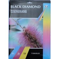 A3 150gsm Black Diamond Gloss Inkjet Paper