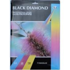 A3 150gsm Black Diamond Gloss Inkjet Paper