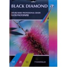 A3 155gsm Black Diamond Double Sided Gloss Photo Paper