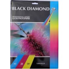 A3 260gsm Black Diamond Gloss Photo Paper