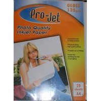 A4 Projet 135gsm Glossy Photo Paper