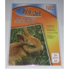 A4 Projet 185gsm Glossy Photo Paper