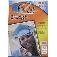 A4 Projet 260gsm Glossy Photo Paper