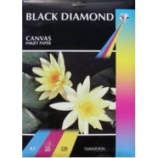 Black Diamond A3 220gsm Canvas Inkjet Paper