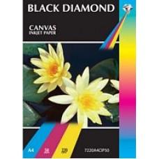 Black Diamond A4 220gsm Canvas Inkjet Paper