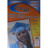 Projet A4 255gsm Double Sided Matte / Gloss Photo Paper